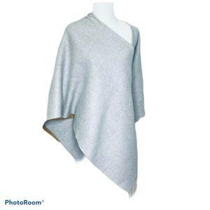 Saks Fifth Avenue Poncho Wrap 100% Merino Wool